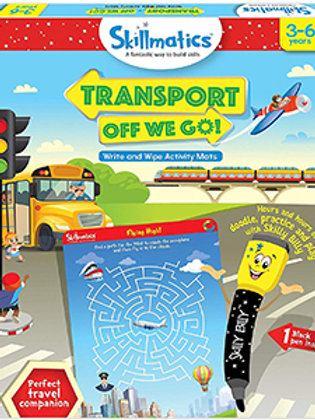 Skillmatics: Transport Off We Go (Write & Wipe Activity Mats) (3-6 Years)