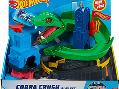 Hot Wheels City Cobra Crush Track Set