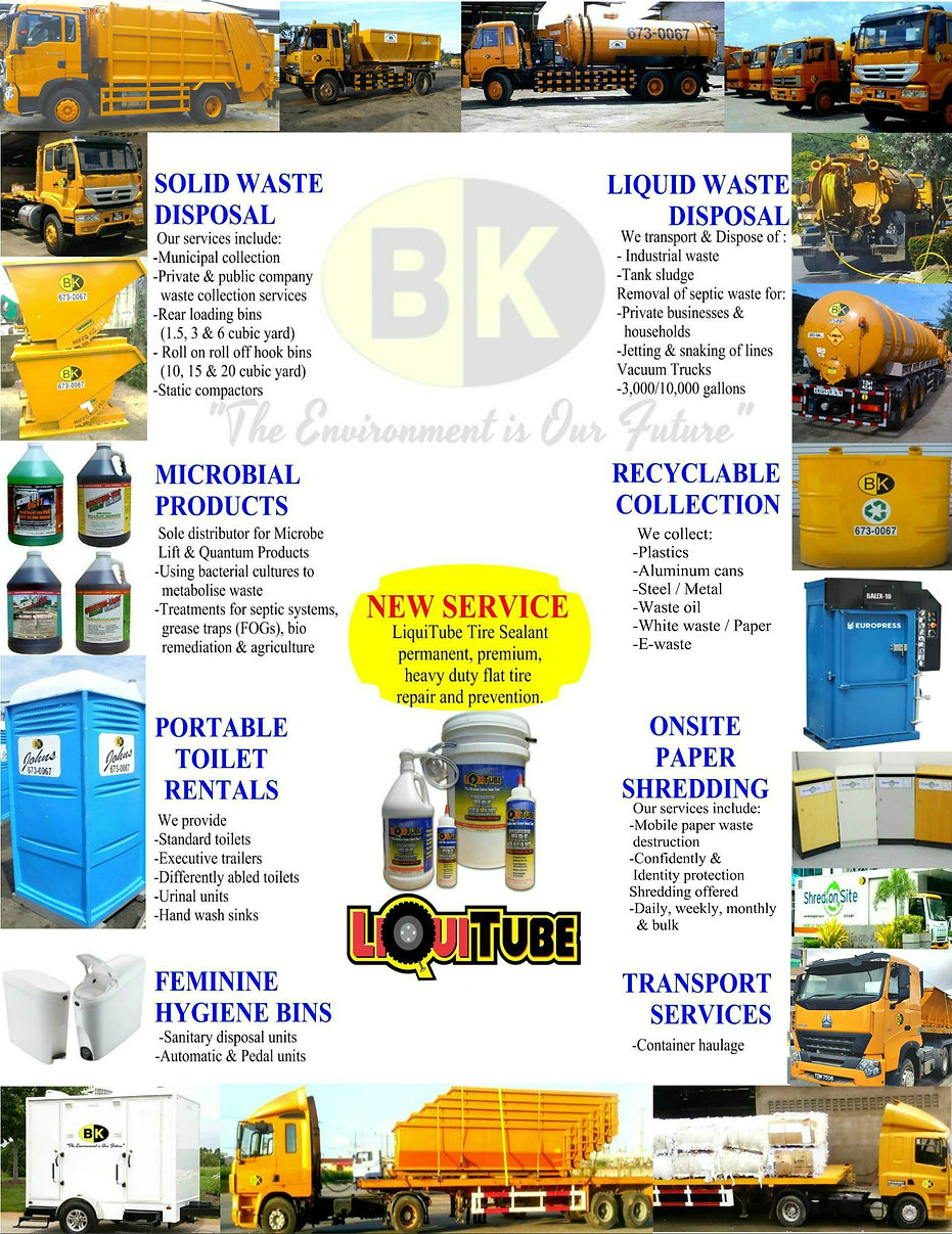 services offered by B.K. Holdings Limited