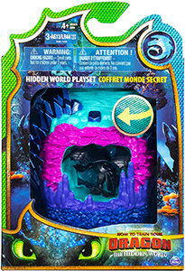 Dreamworks Dragons Hidden World Playset - Dragon Lair with Collectible Toothless
