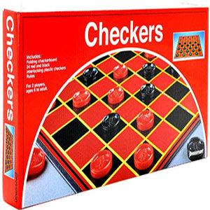 Checkers Folding Board Game - Pressman Toys