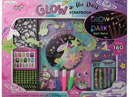 Unicorn Glow-in-The-Dark Scrapbook Stickers Kit Activity Set