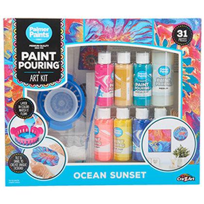 Cra-Z-Art Paint Pouring Art Kit - Ocean Sunset