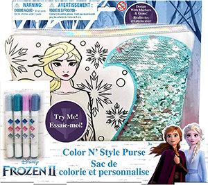 Disney Frozen II Colour N' Style Sequin Purse Activity