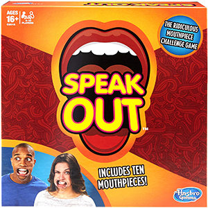 Speak Out Game (with 10 Mouthpieces) - Hasbro
