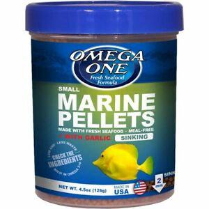 Omega One Marine Pellets + Garlic (Sinking) - Small (4.5oz)