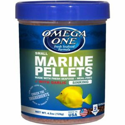 Omega One Marine Pellets + Garlic (Sinking) - Small (4.5oz)