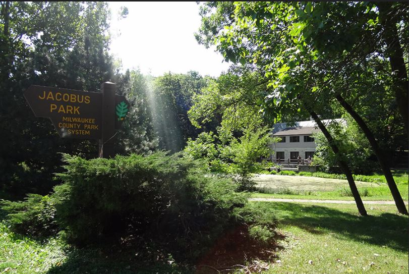 CJPNA Park Sign and Building