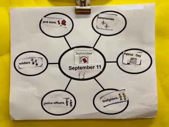 Student work on graphic organizer