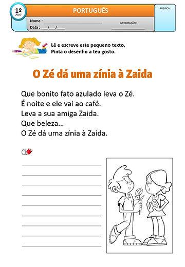 Texto 15 - O Zé dá uma zínia à Zaida_pag