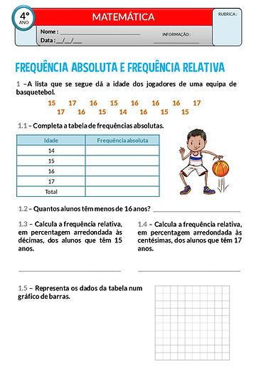OTD1 - Frequência absoluta e frequência