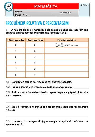 OTD1 - Frequência relativa e percentagem