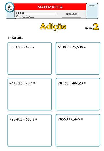 1 - Operações_adição - números decimais_
