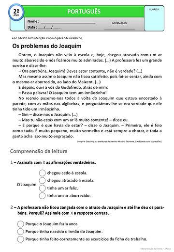 24 - Texto - Os problemas do Joaquim_pag