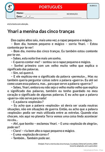 Texto 35 - Ynari a menina das cinco tran