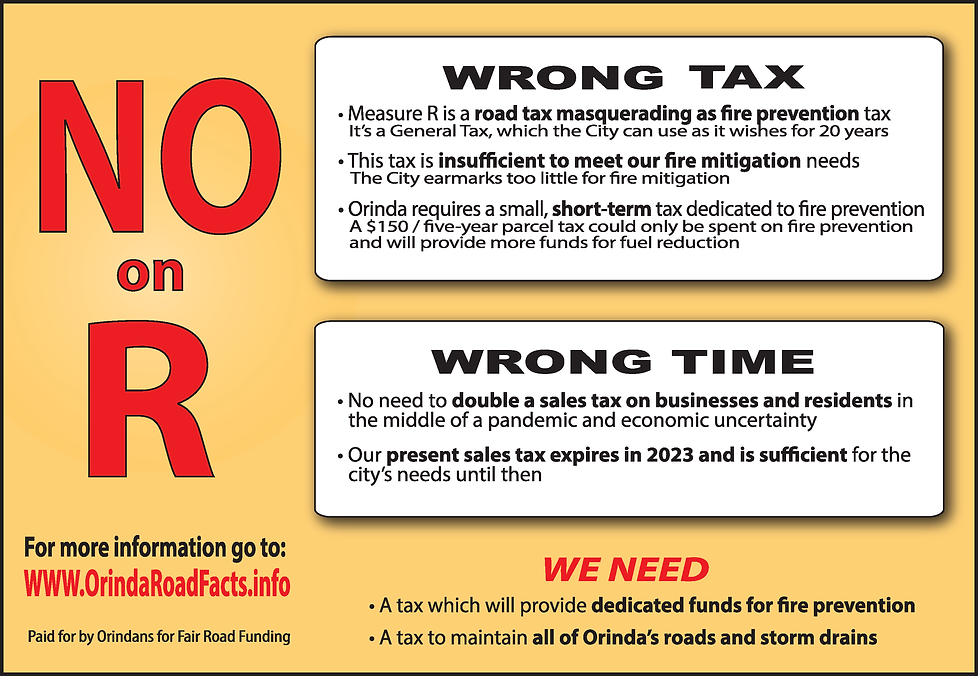 No on Measure R ad for Orinda News.png