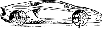 Lamborghini_Aventador noire trait fin.pn