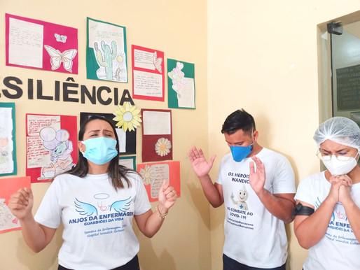 Guerreiros da pandemia, enfermeiros de Barcarena comemoram Dia Internacional da Enfermagem