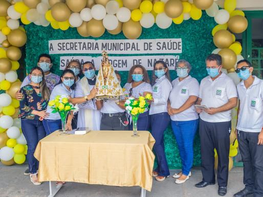 Imagem de Nsa Sra de Nazaré visita órgãos públicos de Barcarena