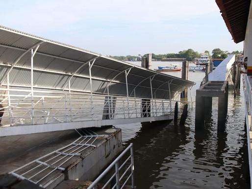 Estrutura danificada do Terminal Hidroviário de Barcarena será recuperada em 15 dias