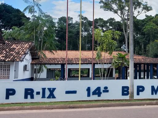 Batalhão de Polícia da Vila dos Cabanos recebe doações para Natal Solidário