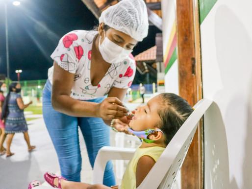 Vacinação contra a Poliomielite disponível na Praça das Crianças neste domingo