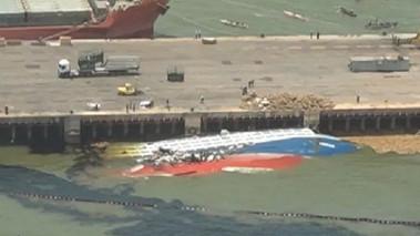 Marinha aprova plano de resgate do navio que naufragou em Vila do Conde
