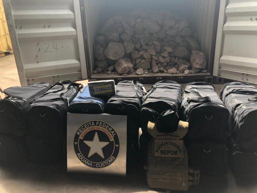 Receita Federal apreende quase 470 kg de cocaína em Vila do Conde
