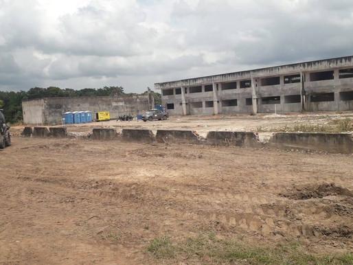 Retomam obras de construção da Escola Técnica de Barcarena