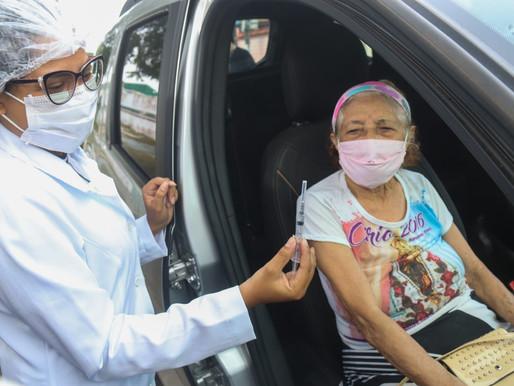Idosos a partir de 79 anos tomarão vacina em Barcarena nesta terça (16)