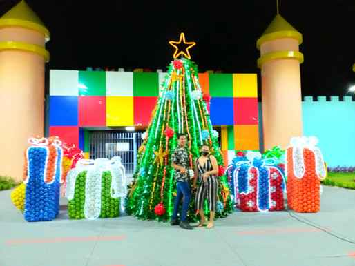 Praça das Crianças de Barcarena recebe decoração natalina
