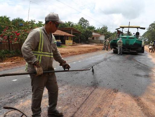 PA-483 recebe asfalto na rota para Barcarena e ao Porto de Vila do Conde