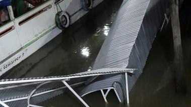 Acidente provoca queda de estrutura do Terminal Hidroviário de Barcarena