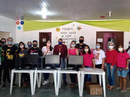 Senac doa computadores para instituições de Barcarena