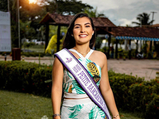 Barcarenense Esthefani Lima vence concurso Miss Teen Petite Pará 2021