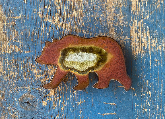 Small Rust Bear Trivet