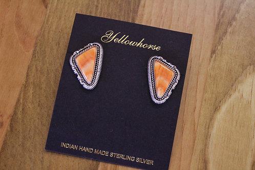 Orange Spiny Oyster Earrings