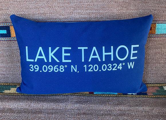 Lake Tahoe Coordinates Pillow