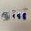 Thumbnail: Medium Lapis Sterling Silver Lake Tahoe Pendant w/CZ