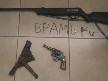 Em Clevelândia armas são apreendidas pela Polícia Ambiental