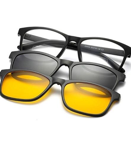 Oculos com duas lentes polarizadas