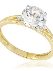 Anel com Diamantes e Cristal,