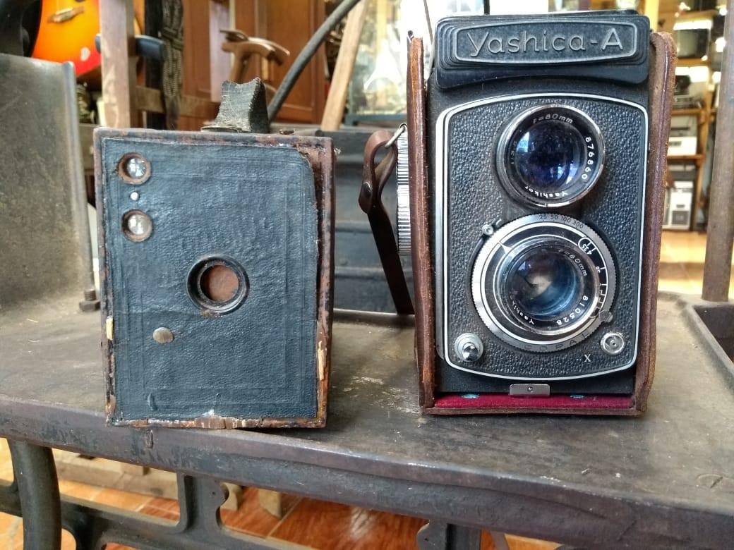 Primeiras máquinas fotográficas.
