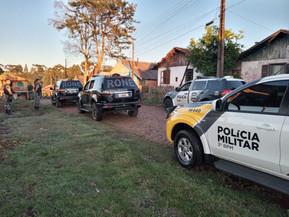 Operação em Clevelândia contou com 55 policiais civis e militares