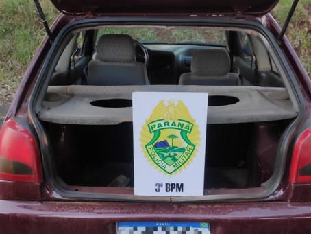 Polícia Militar de Pato Branco recupera carro furtado em Clevelândia