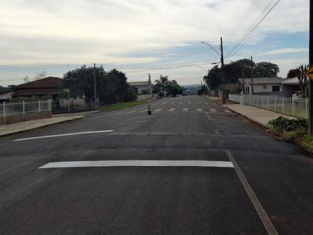 Quebra-molas estão sendo instalados nas ruas de Clevelândia