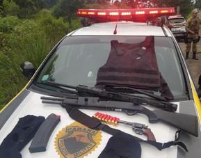 Assaltantes de banco entram em confronto com a Polícia Militar na PRC-280 em Palmas