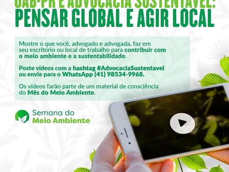 OAB-PR e Advocacia Sustentável: pensar global e agir local