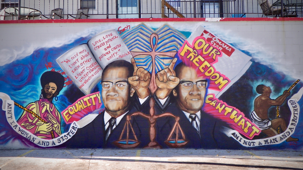 Jnj My Store >> Mural At J N J Grocery Store Honors Malcolm X And The Omaha Star