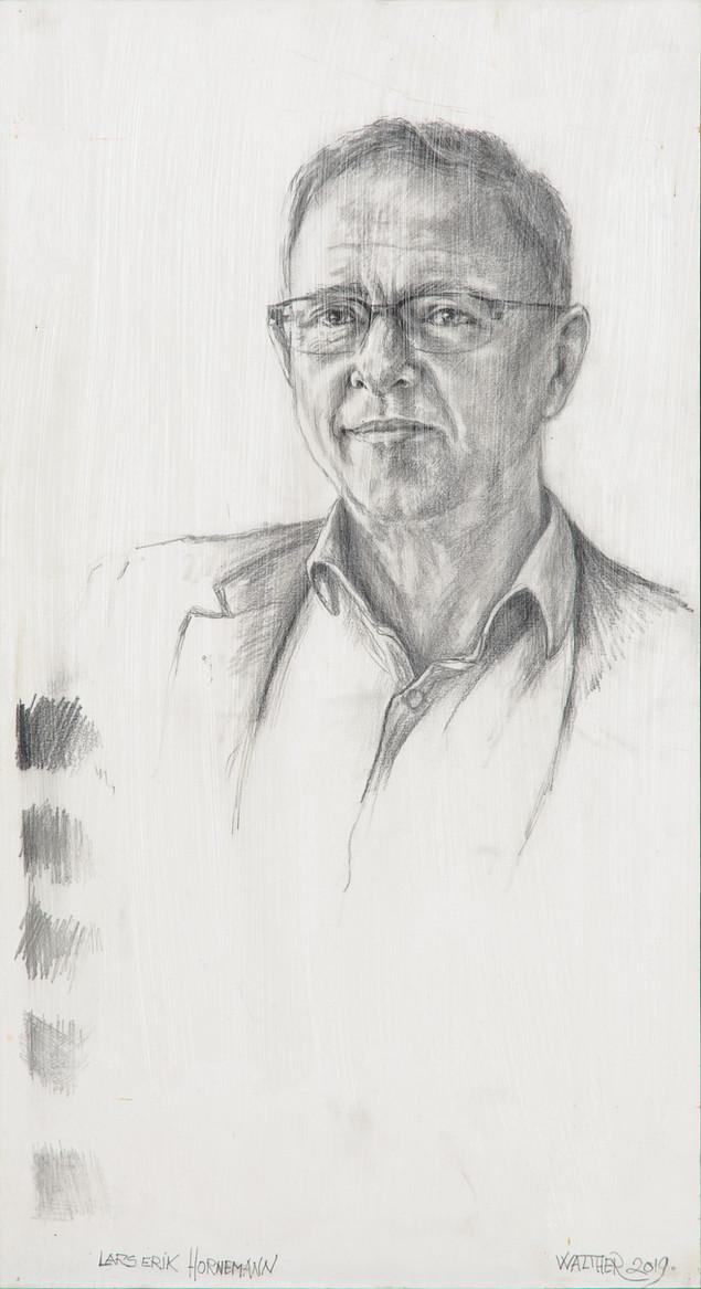 Forarbejde til Portræt af Lars Erik Hornemann